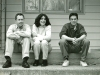 The Howling Turbines in an early publicity shot by Jeff Stanton, circa 1998. From left: Doug Hubley, Gretchen Schaefer, Ken Reynolds.