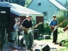 The Turbines howl at Rikki and Bob Gallagher's party, circa 2001. Photo by Jeff Stanton.