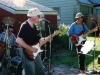 Ken Reynolds, Doug Hubley and Gretchen Schaefer -- the Howling Turbines, circa 2001, in a party at the Westbrook home of Rikki and Bob Gallagher. Photo by Jeff Stanton.