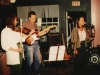 Melinda McCardell, Doug Hubley and Marcia Goldenberg during a Cowlix date at Norton\'s, opening for the Moxie Men, in 1992. Photo by Jeff Stanton.