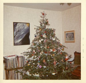 The Hubley Christmas tree in 1972, but it could have been any year. Hubley Family photo.