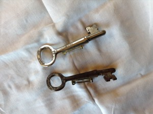 My two remaining promotional Boarders key pins.