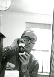 Your author in a film selfie, shot in the bedroom mirror in 1999. Notice the Concord Coach schedule tucked in the mirror frame in case we needed to make a quick getaway. Hubley Archives.