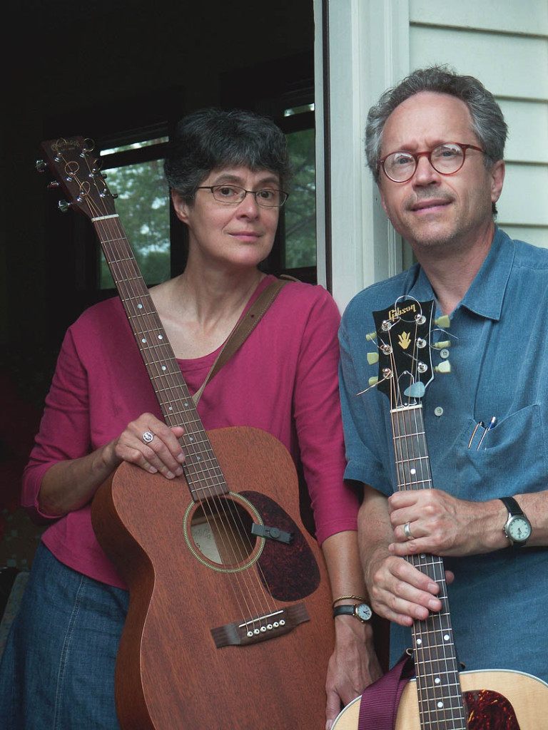 Gretchen Schaefer and Doug Hubley in a Day for Night publicity photo taken by the Kodak self-timer. Hubley Archives.
