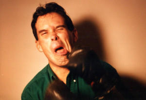 Ken seemed to take the theme quite seriously in this outtake from the 1998 boxing-poster photo session. Hubley Archives.