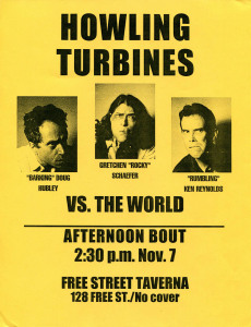 A poster for a 1999 performance. Hubley Archives.