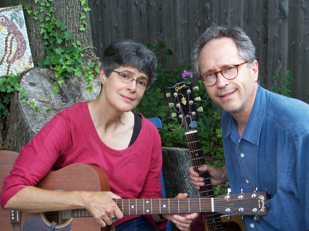 Gretchen Schaefer and Doug Hubley look skeptical in a 2008 publicity image. Photo by Kodak self-timer / Hubley Archives.